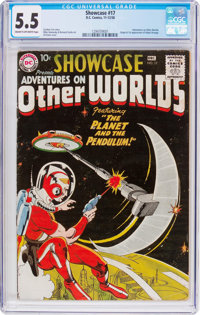 Showcase #17 Adventures on Other Worlds (DC, 1958) CGC FN- 5.5 Cream to off-white pages