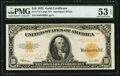 Large Size:Gold Certificates, Fr. 1173 $10 1922 Gold Certificate PMG About Uncirculated 53 EPQ.. ...