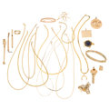 Estate Jewelry:Lots, Multi-Stone, Gold, Yellow Metal Jewelry. ... (Total: 21 Items)