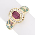Estate Jewelry:Rings, Ruby, Diamond, Opal, Gold Ring . ...