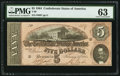 Confederate Notes:1864 Issues, T69 $5 1864 PF-7 Cr. 561.. ...