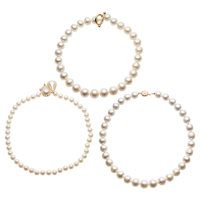 South Sea Cultured Pearl, Cultured Pearl, Diamond, Mabe Pearl, Gold Necklaces