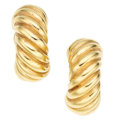 Estate Jewelry:Cufflinks, Gold Earrings, David Yurman. ...