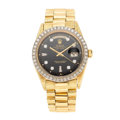 Estate Jewelry:Watches, Rolex Gentleman's Diamond, Gold Watch. ...