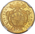 Italy:Papal States, Italy: Papal States. Pius VI gold 10 Zecchini 1787 Anno XII MS63 Prooflike NGC,...