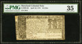 Colonial Notes:Maryland, Maryland April 10, 1774 $4 PMG Choice Very Fine 35.. ...