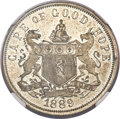 South Africa: Cape of Good Hope. British Colony copper-nickel Proof Penny 1889-V PR62 NGC