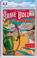 Silver Age (1956-1969):Adventure, The Brave and the Bold #5 (DC, 1956) CGC VG+ 4.5 Cream to off-whitepages....