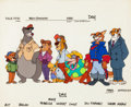 Animation Art:Color Model, TaleSpin Studio Size Comparison Model Cel Group of 8 (WaltDisney, 1990). ... (Total: 4 Items)
