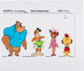Animation Art:Color Model, Bonkers Size Comparison Model Cel Group of 4 (Walt Disney,1993). ... (Total: 4 Items)