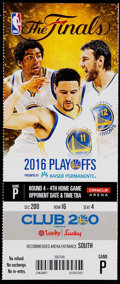 Basketball Collectibles:Programs, 2016 NBA Finals Game 7 Full Ticket - Cleveland Cavaliers F...