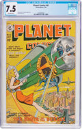 Golden Age (1938-1955):Science Fiction, Planet Comics #61 (Fiction House, 1949) CGC VF- 7.5 Off-whitepages....