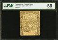 Colonial Notes:Connecticut, Connecticut July 1, 1780 9d PMG About Uncirculated 55.. ...