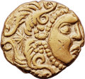 Ancients:Celtic, Ancients: NORTHEAST GAUL. The Parisii. Ca. 100-50 BC. AV stater (20mm, 7.24 gm, 12h). Choice XF....