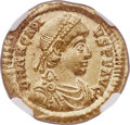 Ancients:Roman Imperial, Ancients: Arcadius, Eastern Roman Emperor (AD 383-408). AV solidus(21mm, 4.40 gm, 11h). NGC MS 4/5 - 5/5....