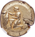Ancients:Greek, Ancients: MYSIA. Cyzicus. Ca. 500-450 BC. EL stater (19mm, 16.16 gm). NGC Choice XF 4/5 - 5/5....