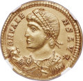 Ancients:Roman Imperial, Ancients: Valens (AD 364-378). AV solidus (21mm, 4.44 gm, 6h). NGCChoice AU 5/5 - 3/5....
