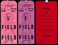 Football Collectibles:Tickets, 1950-1969 Los Angeles Rams Game Pass Trio (3). ...