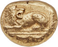 Ancients:Greek, Ancients: IONIA. Miletus. Ca. 600-530 BC. EL stater (19mm, 13.97gm). NGC AU 4/5 - 3/5, light smoothing....