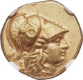 Ancients:Greek, Ancients: MACEDONIAN KINGDOM. Alexander III the Great (336-323 BC).AV stater (18mm, 8.57 gm, 12h). NGC Choice XF 4/5 - 3/5....