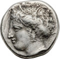 Ancients:Greek, Ancients: LOCRIS. Locris Opuntia. Ca. 369-338 BC. AR stater (23mm,12.23 gm, 12h). NGC Choice VF 4/5 - 3/5....