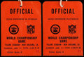 Football Collectibles:Tickets, Super Bowl IV Official's Passes Ticket Stub Pair (2) - Tulane Stadium New Orleans, LA. ...