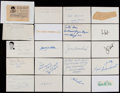 Autographs:Index Cards, Baseball Greats Signed Index Card/Cut Signature Collection (67)....