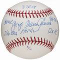 Autographs:Baseballs, Tom Seaver Single Signed Stat Ball. ...