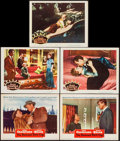 """Movie Posters:Film Noir, The Damned Don't Cry & Others Lot (Warner Brothers, 1950).Lobby Cards (5) (11"""" X 14"""") & One Sheets (2) (27"""" X 41""""). ..."""