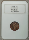 Proof Indian Cents, 1898 1C PR65 Red and Brown NGC. NGC Census: (65/28). PCGS Population: (80/38). PR65. Mintage 1,795. . From The E.B. Str...