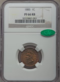 Proof Indian Cents: , 1885 1C PR66 Red and Brown NGC. CAC. NGC Census: (46/12). PCGS Population: (45/25). Mintage 3,790. . From The E.B. Str...