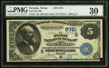 National Bank Notes:Texas, Nevada, TX - $5 1882 Date Back Fr. 537 The First NB Ch. # (S)5721. ...