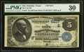 National Bank Notes:Texas, San Antonio, TX - $5 1882 Date Back Fr. 537 The City NB Ch. # (S)5217. ...