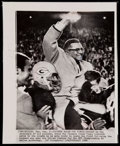 Football Collectibles:Photos, 1967 Vince Lombardi Green Bay Packers Wire Photo. ...