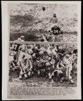Autographs:Baseballs, 1966 Green Bay Packers Don Chandler Wire Photo. ...