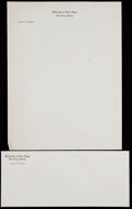 Football Collectibles:Others, Notre Dame Department of Athletics Letterhead and Envelope. ...