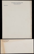 Football Collectibles:Others, Knute Rockne Notre Dame Letterhead and Envelope. ...