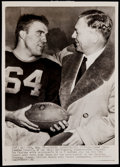 Football Collectibles:Photos, 1944 Curly Lambeau Vintage Wire Photograph....