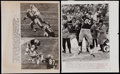 Football Collectibles:Photos, 1960's Green Bay Packers Wire Photographs Lot of 3....