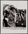 Football Collectibles:Photos, 1965 Vince Lombardi Wire Photograph....