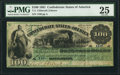 Confederate Notes:1861 Issues, T3 $100 1861 PF-2 Cr. 3.. ...