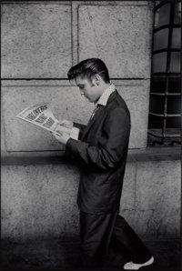 Alfred Wertheimer (German/American, 1929-2014) Elvis Reading Newspaper, 1956 Gelatin silver, 2006