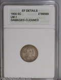 Early Half Dimes: , 1800 H10C --Damaged, Cleaned--ANACS. XF Details. V-1, LM-1, R.3.Bright surfaces reveal light scratches on both sides, espec...