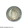 Bust Dimes: , 1814 10C Large Date MS65 NGC. JR-4, R.2. Medium gray surfaces withhues of iridescent blue, antique-golden, and crimson-rus...