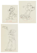 Animation Art:Production Drawing, Mickey's Rival Mickey Mouse, Minnie Mouse, and MortimerMouse Animation Drawings Group of 3 (Walt Disney, 1936). ...(Total: 3 )