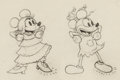 Animation Art:Production Drawing, Mickey's Mellerdrammer Minnie Mouse and Mickey Mouse Animation Drawing (Walt Disney, 1933). ...