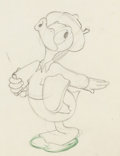 Animation Art:Production Drawing, Donald Gets Drafted Donald Duck Animation Drawing (WaltDisney, 1942). ...
