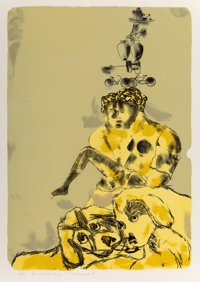 Francesco Clemente (b. 1952) Untitled, 1984 Lithograph in colors on Arches 88 paper 42-1/2 x 30-1