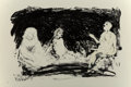 Fine Art - Work on Paper:Print, Eric Fischl (b. 1948). Annie, Gwen, Lilly, Pam, and Tulip(Three seated women), 1987. Lithograph in co...