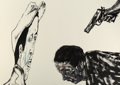 Fine Art - Work on Paper:Print, Leon Albert Golub (1922-2004). White Squad , 1987.Lithograph in colors on Arches paper. 29-5/8 x 42 inches (75.2 x106....